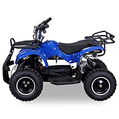 New Kids Electric Miniquad TORINO 800 Watt Pocket Quad Bike / ATV Ride-On Blue