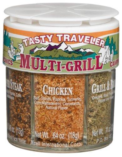 Dean Jacobs 6 Tasty Traveler Multi-Grill, 2.62.-Ounce Regular Jars (Pack of 4)