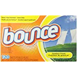 Bounce Fabric Softener Sheets, Outdoor Fresh Scent, 120-Count Box (Pack of 2)