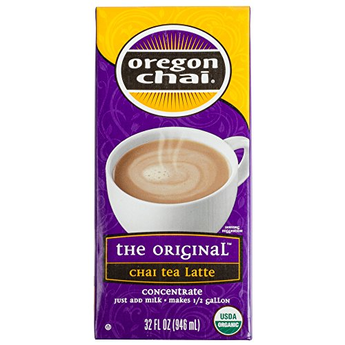 Oregon Chai Tea Latte Concentrate Original 32 Oz(Pack Of 5)