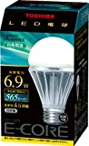 TOSHIBA E-CORE LED電球 一般電球形6.9W(白色相当) LEL-AW6N/2