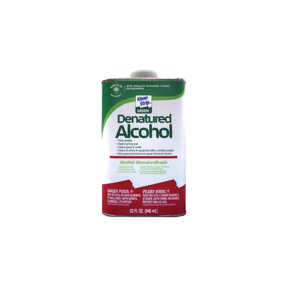 Klean Strip Green QKGA75003 Denatured Alcohol, 1 Quart on