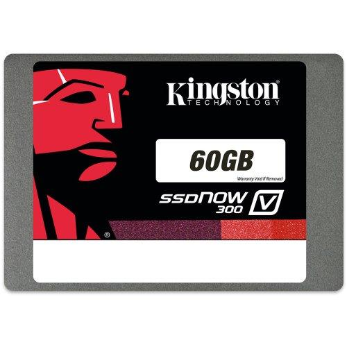 Kingston SV300S37A/60G SSDNow V300 interne SSD-Festplatte 60GB (6,4 cm (2,5 Zoll), SATA III) schwarz
