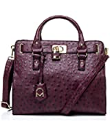 Noble Mount Ostrich Finish Temira Tote - Colors Available