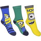 3er Set Minions Kinder Socken für Jungen und Mädchen Gr. 23-30 wählbar