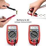 Etekcity MSR-R500 Digital Multimeter, Volt Amp Ohm Meter with Diode and Continuity Test, Red