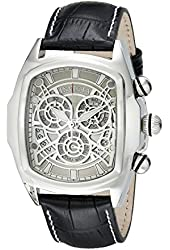 Invicta Men's 18838 Lupah Stainless Steel Watch with Black Leather Band