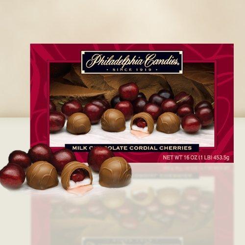 Philadelphia Candies Milk Chocolate Cordial Cherries with Liquid Center