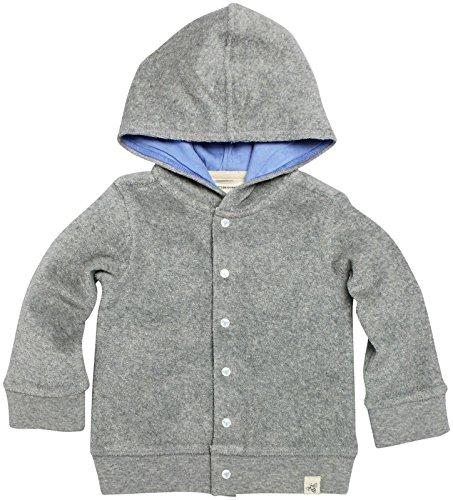 Burt's Bees Baby Baby Organic Knit Terry Hooded Jacket, Heather Grey, 12