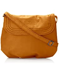 Caprese Demi Large Sling Bag (Ocher) at Rs 1169 Only - 35% Off