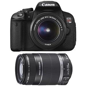 Canon EOS Rebel T4i Digital SLR Camera Body & EF-S 18-55mm IS II Lens with EF-S 55-250mm f/4.0-5.6 IS II Zoom Lens
