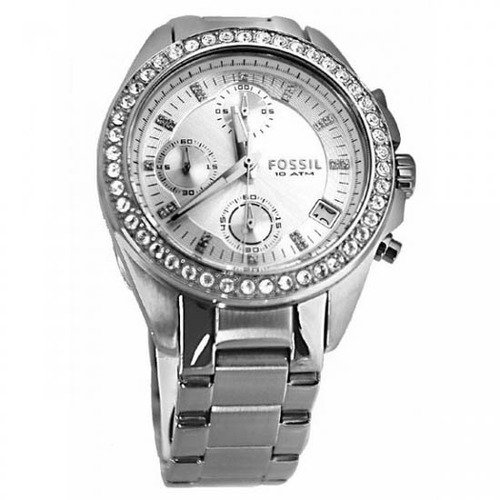 Reloj Fossil mujer ES2681 y correa de acero inoxidable Glitz plateado C