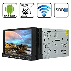 See Rungrace Universal 7 inch Android 4.2 Multi-Touch Capacitive Screen In-Dash Car DVD Player with WiFi / GPS / RDS / IPOD / Bluetooth / ISDB-T Details