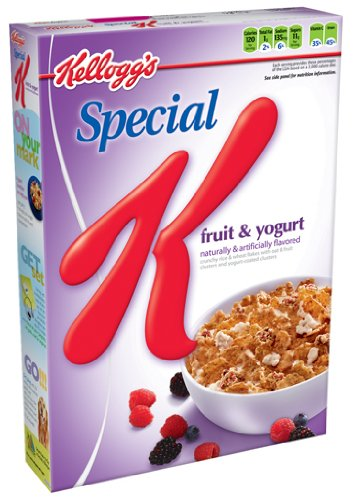 Special K Cereal, Fruit & Yogurt, 17.5-Ounce Packages (Pack of 4)