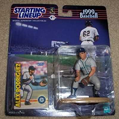 1999 - Hasbro - Starting Lineup - MLB - Alex Rodriguez #3 - Seattle Mariners - Vintage Action Figure - w/ Trading Card - Limited Edition - Collectible
