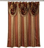 "Popular Bath Contempo Spice with Attached Valance Fabric Shower Curtain Size 72"" Width  X  72"" Length ( 180 cm X 180 cm )"