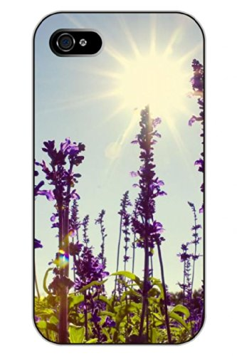Sprawl Unique Clear Design Lavender Under Hot Sun Protective Hard Plastic Snap On Iphone 5 5S Case Flower Of Life