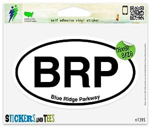 """BRP Blue Ridge Parkway Oval Car Sticker Indoor Outdoor 5"""" x 3"""""""