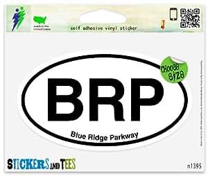 "BRP Blue Ridge Parkway Oval Vinyl Car Bumper Window Sticker 5"" x 3"""
