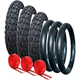 PHIL & TEDS PUNCTURE PROTECTED TYRE AND TUBE SET - OFF ROAD TREAD PATTERN