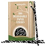 Pirate Birthday Party Paper Straws - Box Of 100 Biodegradable Paper Straws - Made In The USA - Perfect For Birthday Parties