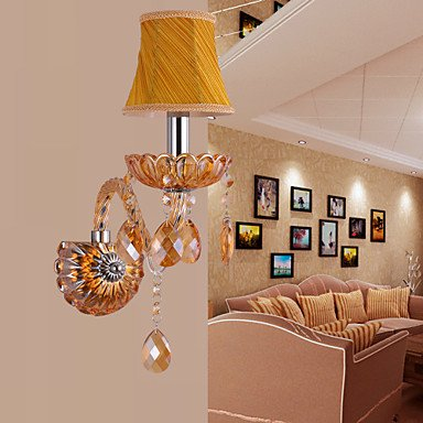 Artisitc applique murale avec Tissu Ombre Ambre Cristal fonction de lustre