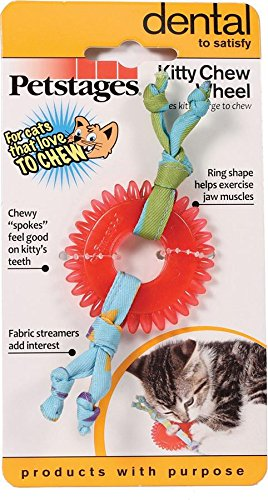 "Petstages Dental Kitty Chew Wheel, 5"" L x 2"" W"