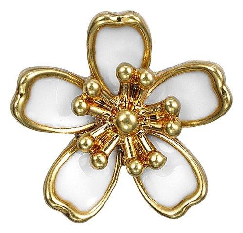 Pilgrim Damen-Anhänger Charming vergoldet weiss 42121-2039