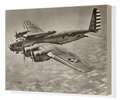 Canvas Artwork of Boeing B-17C Flying Fortress in flight
