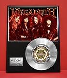 Megadeth LTD Edition Platinum Record Display - Award Quality Music Memorabilia -