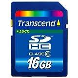 Transcend 16 GB Class 6 SDHC Flash Memory Card TS16GSDHC6E ~ Transcend