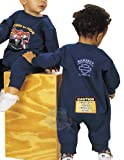 Harley-Davidson Boys Baby Caution Born to Ride Fleece Navy Romper 24M
