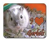 Gerbil Mouse Mat, Wildlife, I Love Gerbils