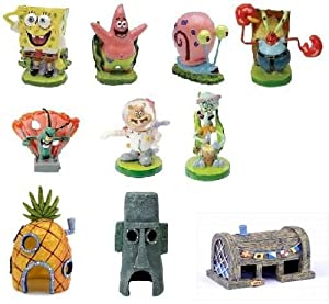 SpongeBob 10 Piece Aquarium Set