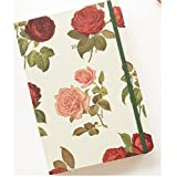 """Pureletter Paperian 2018 Florence daily diary Scheduler Agenda Schedule Diary Notebook (5.59 x 8.11 x 0.27"""" inches) (Red rose)"""