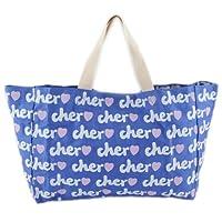 Cher シェル トートバッグ サブバッグ ロゴ バッグ キャンバスバッグ ブルー 並行輸入品 AMI319