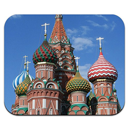 KreML St Basil's Cathedral Russland Mouse Pad Mauspad, quadratisch, Rot