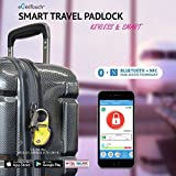 eGeeTouch Smart Travel Padlock with Patented Dual Access Technologies (NFC + BT), Vicinity Tracking, etc.