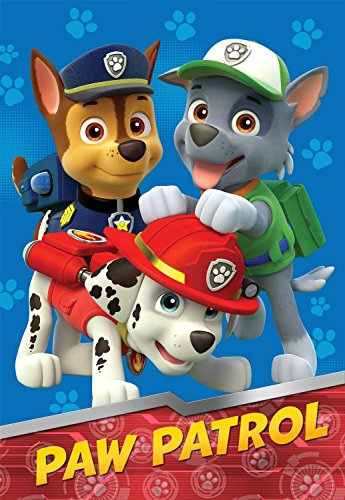 Nick Jr Paw Patrol All Paws On Deck Micro Raschel Blanket, 62 By 90-Inch