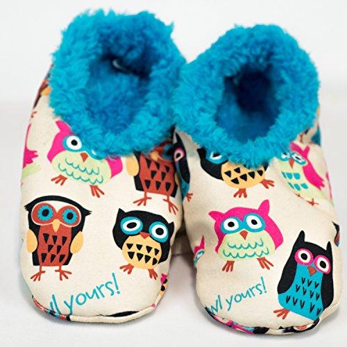 I'm Owl Yours-Owl Fuzzy Feet Slippers by LazyOne (Lazy One Fuzzy Feet compare prices)
