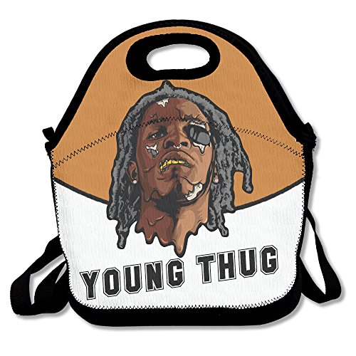 HOHOTO Young Thug Head Portrait Lunch Bag (Biker Lil Friend compare prices)