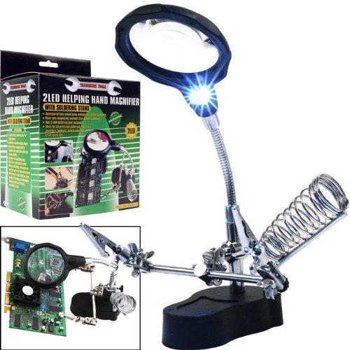 BSS - Trademark ToolsT Helping Hand Magnifier w/ 2 LEDs