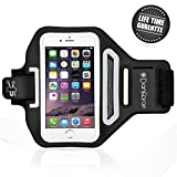 iPhone 6 ,6S,5,5S SPORTS ARMBAND- Great for Cycling ,Running, Workouts or any Fitness Activity , Sweat Proof - Build in Key + Id + Credit Cards - Black-For Men & Women by DanForce