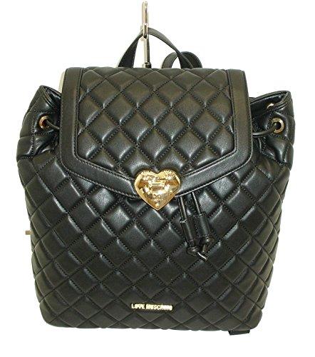 borsa zaino MOSCHINO LOVE JC4212 backpack рюкзак nero