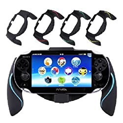 Aweek Bracket Handgrip Handle Grip Case For Playstation Vita 1000 Ps Vita Ps Vita Blue
