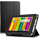 ProntoTec Ultra Slim Lightweight Smart-shell Stand Leather Case Cover for 7 Inch ProntoTec A20 Android Tablet(Black)