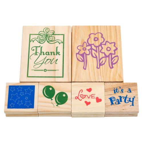 Trademark Games Wood Mounted Rubber Stamp Set - 6 Piece - 1
