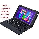 【VSTN】 東芝 dynabook Tab S68・S38 通用 脱着式Bluetooth キーボード ケース一体型 良質PUレザーケース付き(ブラック)