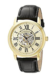 "Stuhrling Original Men's 1077.333531 ""Classic Delphi Venezia"" Stainless Steel Automatic Watch with Leather Band"
