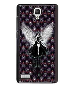 PrintVisa Metal Printed Anjel Designer Back Case Cover for Xiaomi Redmi Note 4G -D4667